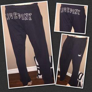 VS PINK Oversized sweatpants SMALL Boxer Rear